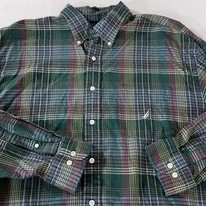 Nautica Long Sleeve Button Down Shirt